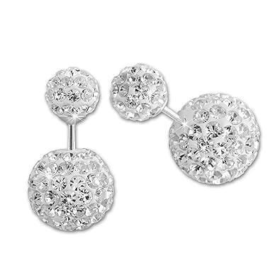 c6cda86022bb Pendientes dobles de la marca SilberDream. Perlas brillantes color blanco