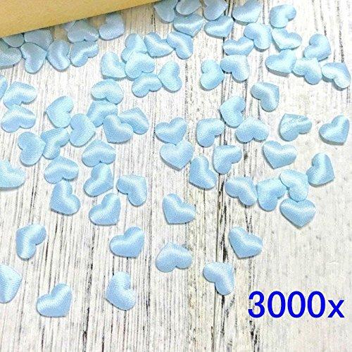 24 opinioni per JZK® 3000 pz 13mm biodegradabili coriandoli cuore blu azzurri cuoricini stoffa