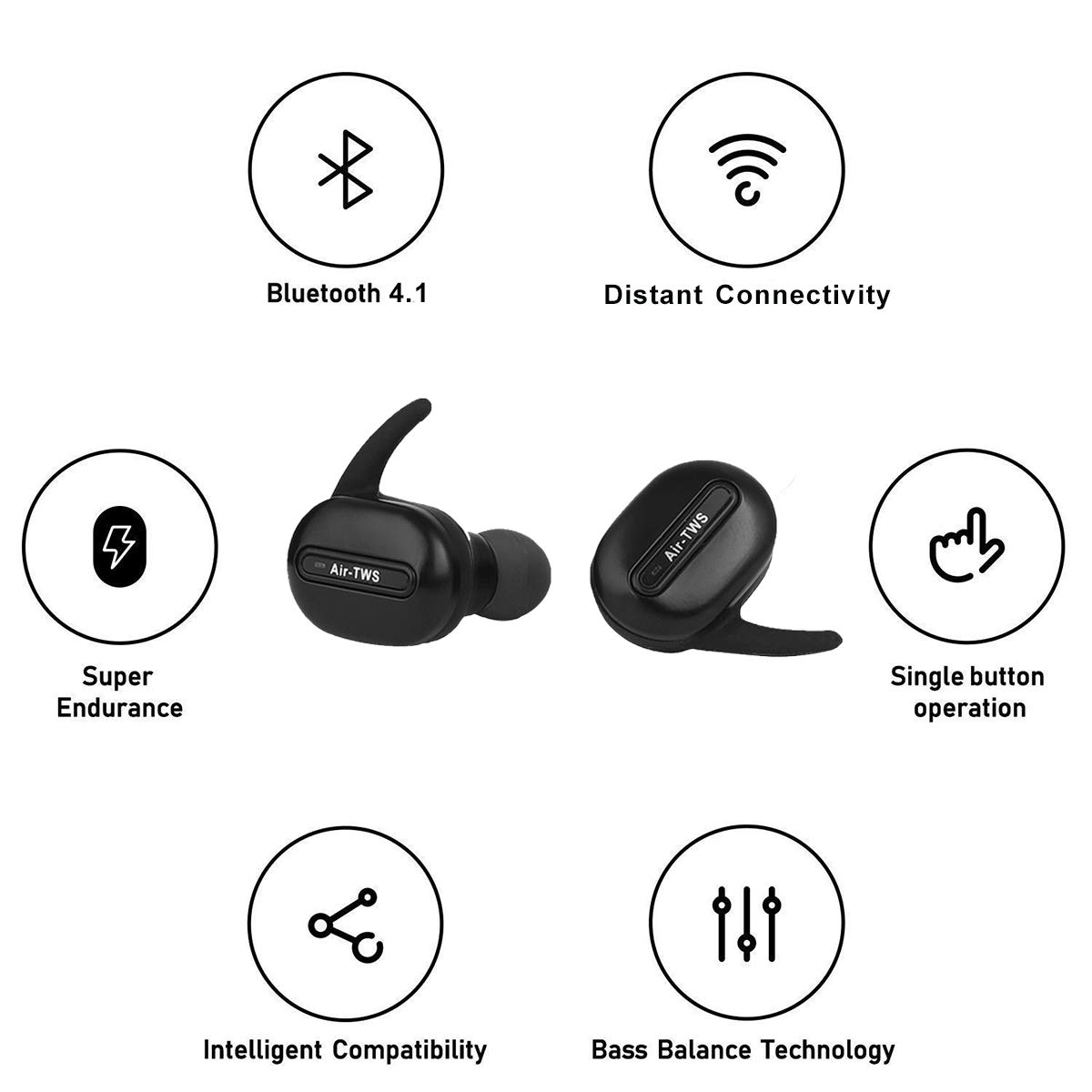 Celestech AirTWS Stereo Headset with Charging Case (Black)  Amazon.in   Electronics b78c3602bb7c4