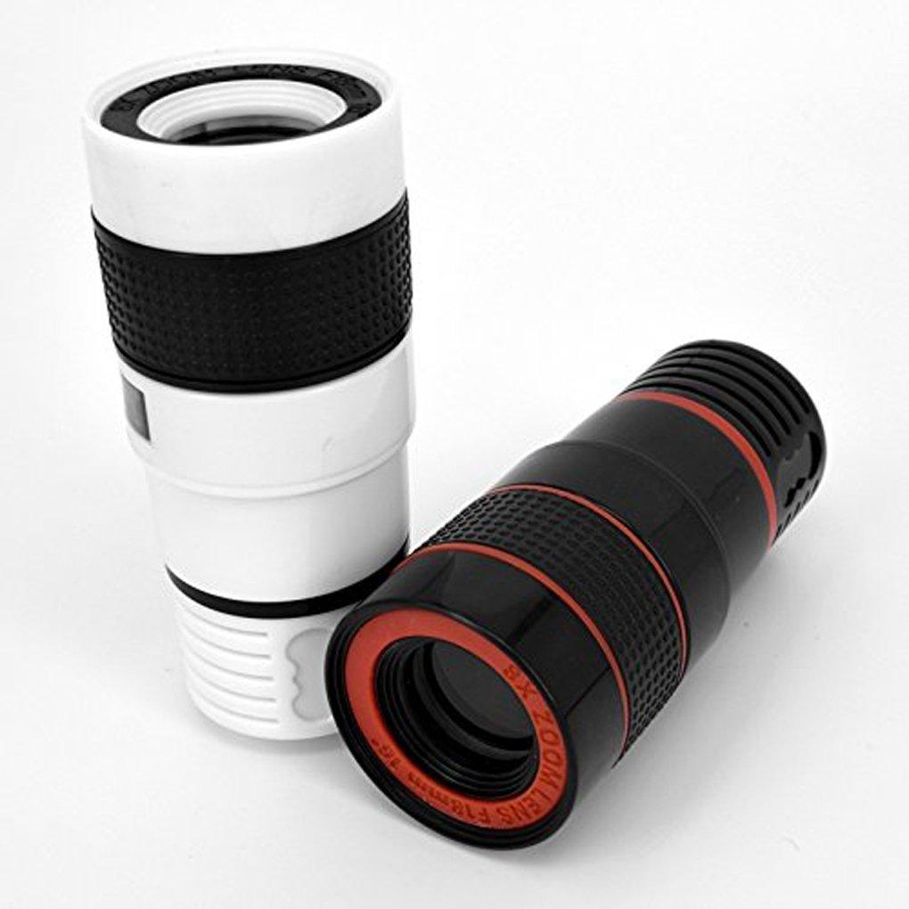 Aiming HD 12x Zoom Telescope Cam/éra Optique Mise au Point dobjectif Photo avec Clip pour iPhone T/él/éphone Photographie