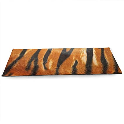Amazon.com: Unisex Fitness Yoga Mat Tiger Print Skin Unique ...