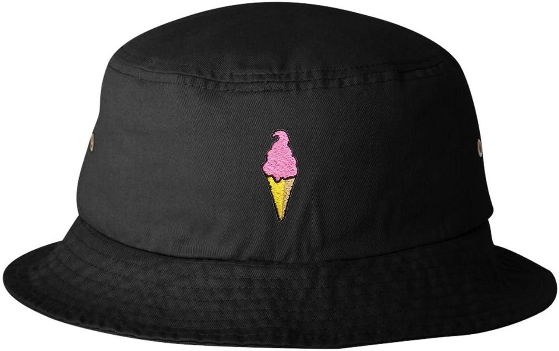 Adult Ice Cream Cone Embroidered Bucket Cap Dad Hat