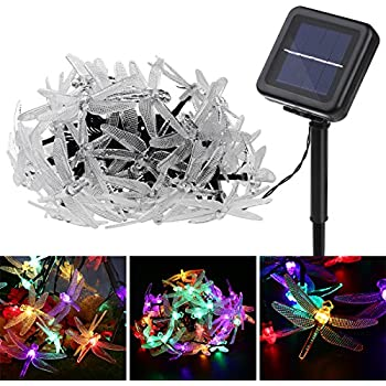 Amazon apexpower solar outdoor string lights decorative dragonfly solar string lights yunlights 197foot 40 led waterproof fairy lights with 8 modes mozeypictures Gallery