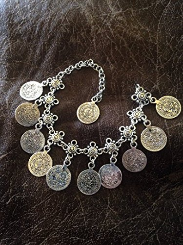 Single Coin Bracelet - Tribal coin bracelet/anklet