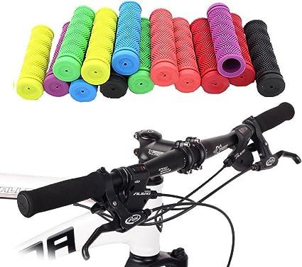 1 Pair BMX Bicycle MTB Bike Handlebar Lock-on Grips Fixed Gear Handle Grips End
