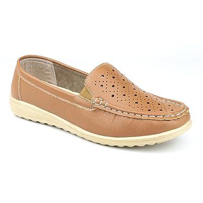 Amblers Ladies Cherwell Slip On Moccasin Style Shoe Yellow