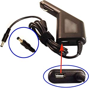 Car DC Power Adapter Charger +USB Port for Acer Aspire ES1-521-87DN ES1-711-P1UV