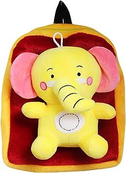 Tickles Cute Elephant Soft Toy School Bag 3 litres
