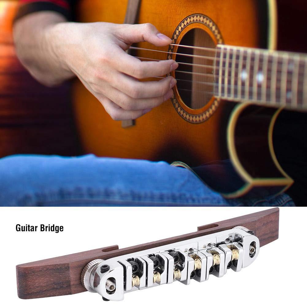 Dilwe Puente de Guitarra, Puente Base Palo de Rosa con Rodillo para 6 Cuerdas LP Guitarra Jazz SG(Plata): Amazon.es: Deportes y aire libre