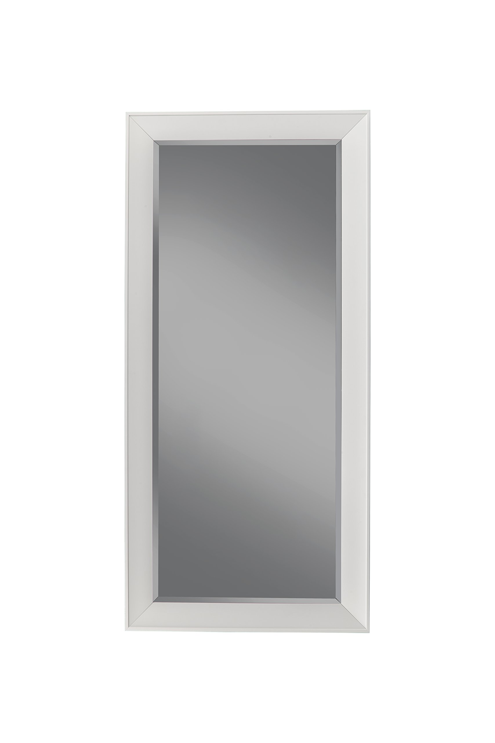 Sandberg Furniture 15411 Contemporary Full Length Leaner Mirror Frame, White by Sandberg Furniture