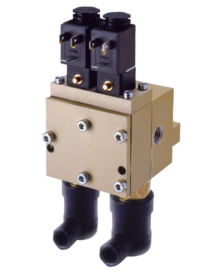 Ross Controls D3573B2644W 35//SERPAR Crossflow Solenoid Controlled Valve Ports 3//8 BSPP 24 VDC 2 Pressure Switches