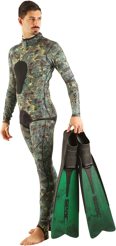 Lycra Wetsuit Camo Cover Skin Two-Piece Suit Seac Pira/ña
