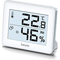 Beurer HM16 Thermo-Hygrometer | Indoor Climate Control for a Healthier Home | Displays Room Temperature and Humidity…