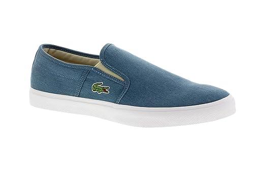 Lacoste - Mocasines de Lona para hombre azul LT BLU / LT BLU 45, color azul, talla 43 EU: Amazon.es: Zapatos y complementos