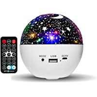 HUMOZM Night Light Star Projector for Kids, 6 Colors Change Starlight Projector, Bedroom Skylight Projector with…
