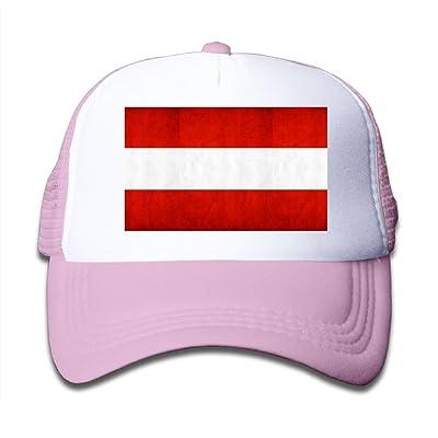 Futong Huaxia Austrian Flag Boy Girl Grid Baseball Caps Adjustable Sunshade Hat For Children