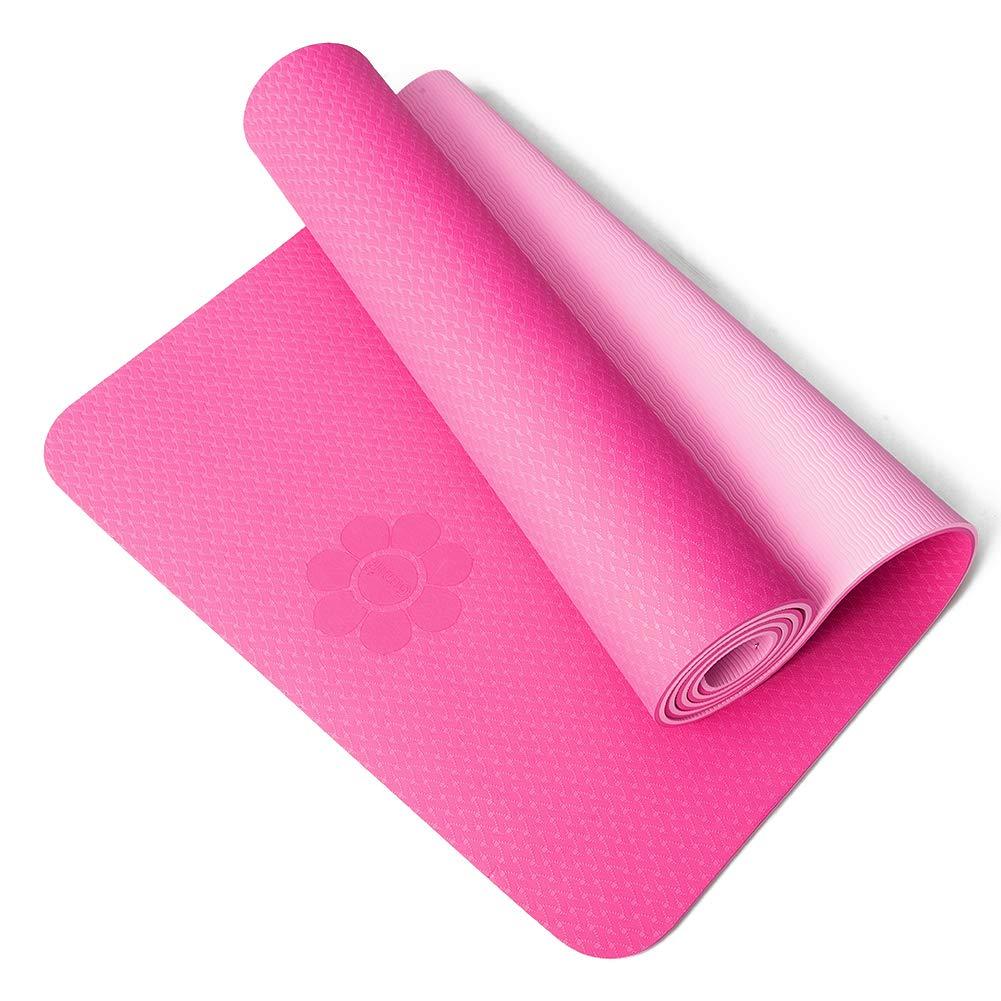 Ideal para Ejercicios en el Suelo Pilates Abdominales Acampada 183 x 61 cm Grosor Adicional de 6 mm y 8 mm estiramientos Gimnasia HIPPOSEUS Colch/ón para Yoga y Ejercicios