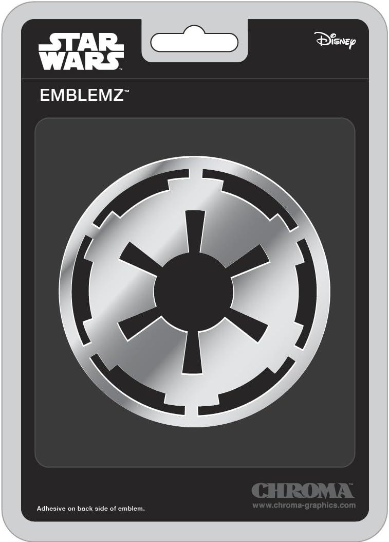 Chroma 041521 Star Wars Imperial Badge Chrome Injectn Molded Emblem 1 Pack