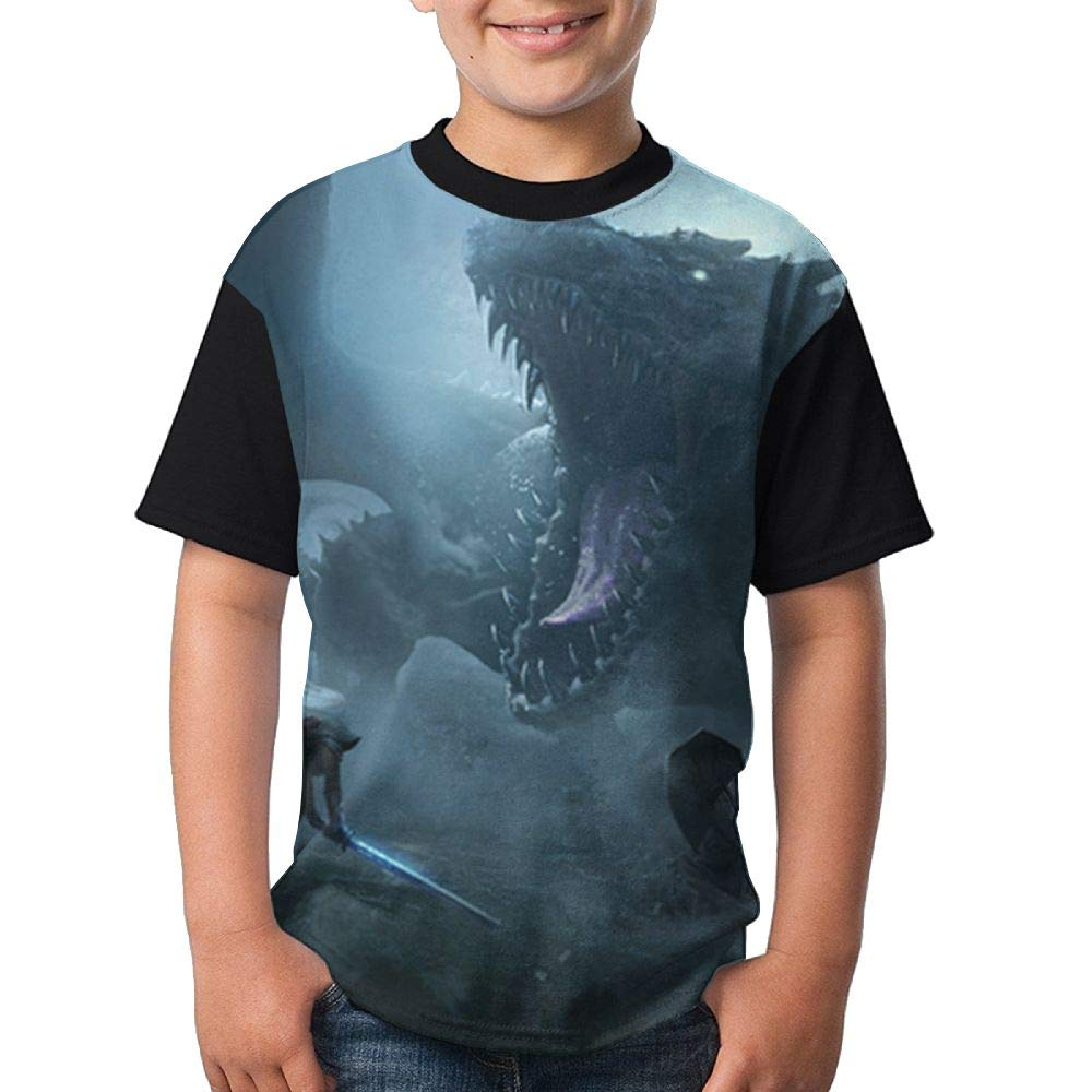 Dragon Child's Boy Girl Short Sleeve Round Neck Funny Top T Shirts S