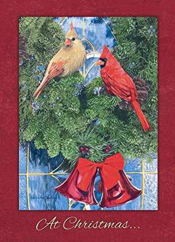 Legacy Publishing Group Boxed Christmas Cards  Cardinal Wreath  20 Count
