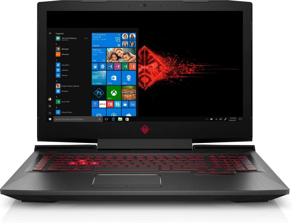 "HP OMEN 17t Premium Gaming and Business Laptop (Intel 8th Gen Coffee Lake i7-8750H, 8GB RAM, 1TB HDD, 17.3"" FHD (1920x1080) G-SYNC, GTX 1070, Thunderbolt 3, Win 10 Home) VR Ready"