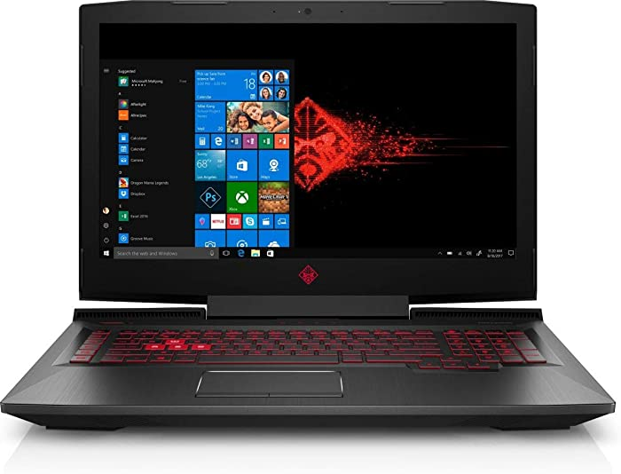 "HP OMEN 17t Premium High Performance Gaming and Business Laptop (Intel i7 Quad Core, 32GB RAM, 1TB HDD + 128GB SSD, 17.3"" FHD (1920x1080) with AMD FreeSync, AMD Radeon RX 580, Win 10 Home)"