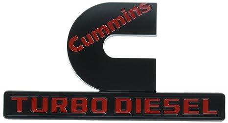 yoaoo 2 x OEM negro Dodge Cummins Turbo Diesel insignias emblema alta salida para RAM 2500