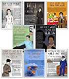 Famous Author Mini Educational Poster Series. English Literature Art Prints. Featuring: Jack Kerouac, Kurt Vonnegut, Phillis Wheatley, Emily Dickinson, Edgar Allan Poe, J.D. Salinger, William Shakespeare, more