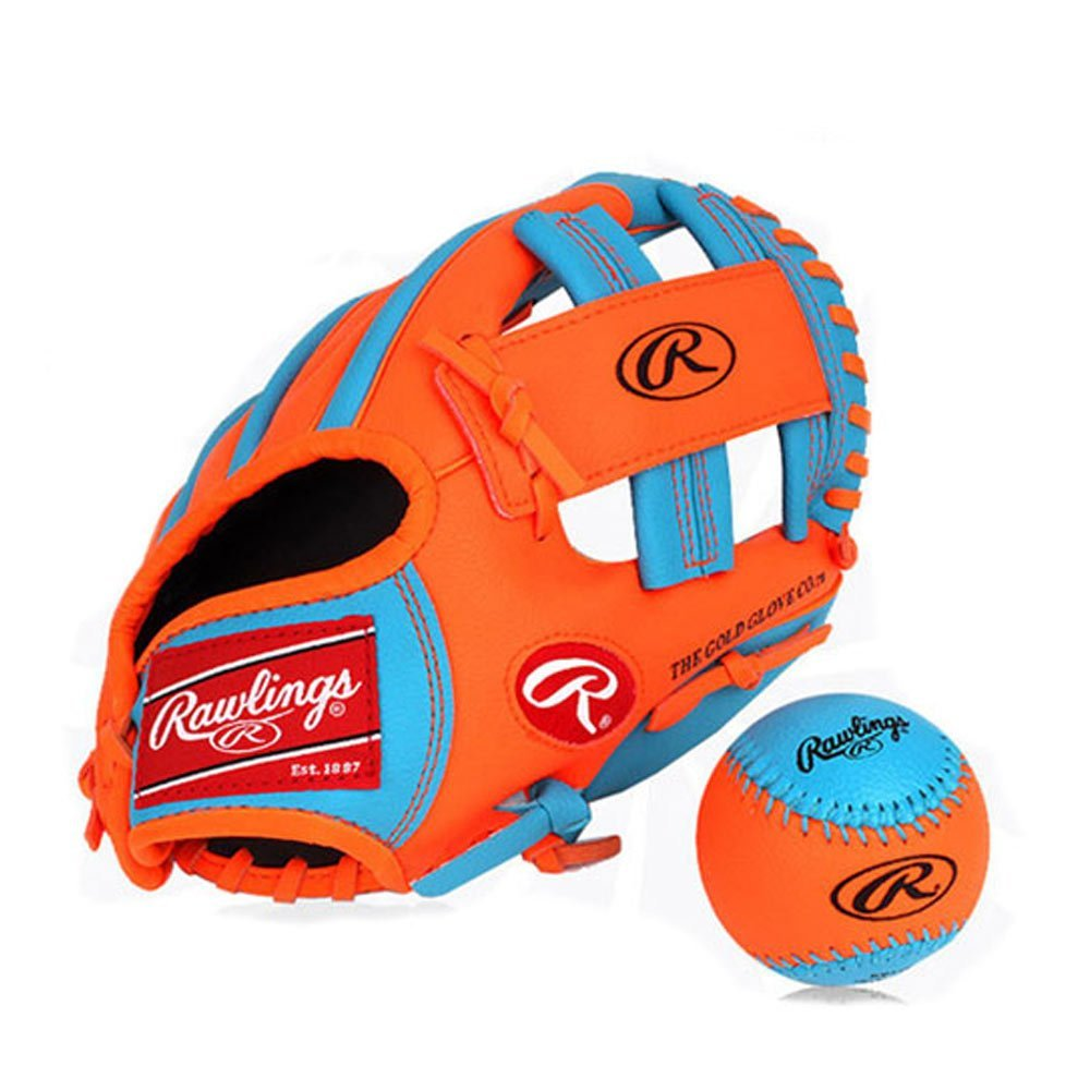 Rawlings Baseball Gloves & Mitts for kids (blue+orange, 11 inch) by RAWLINGS