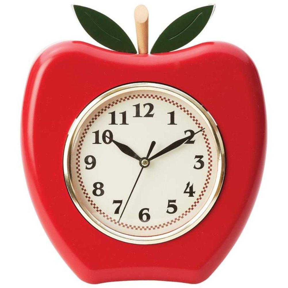 Amazon Brookwood Apple Shaped Wall Clock Home Kitchen