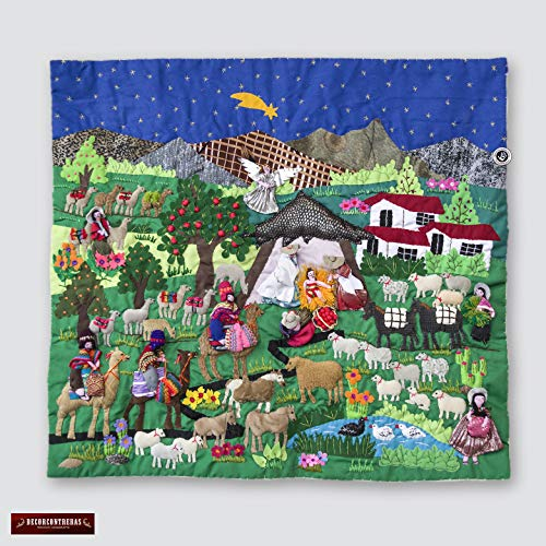 Patchwork Christmas Wall Hanging 17.7