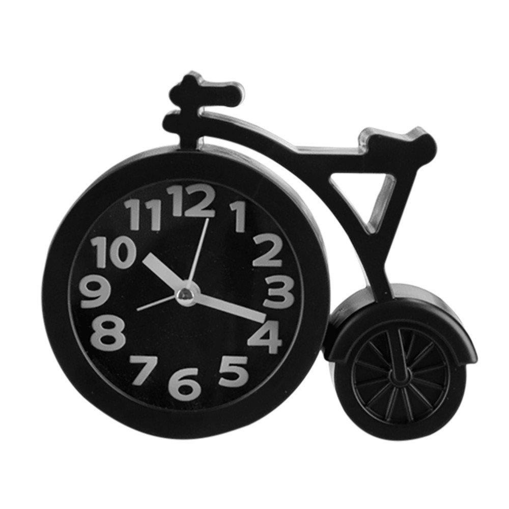 V/élo Cr/éatif Clock R/éveille Matin du lit au Style classicisme Mini et Silencieux Manipulation de Batterie Pendules et horloges NEEKY R/éveil Enfant