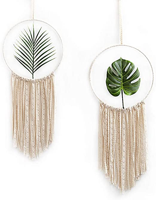 """13/"""" Inch Round Large Wood Grain Craft Ring Macrame Wall Hangings Dreamcatchers"""