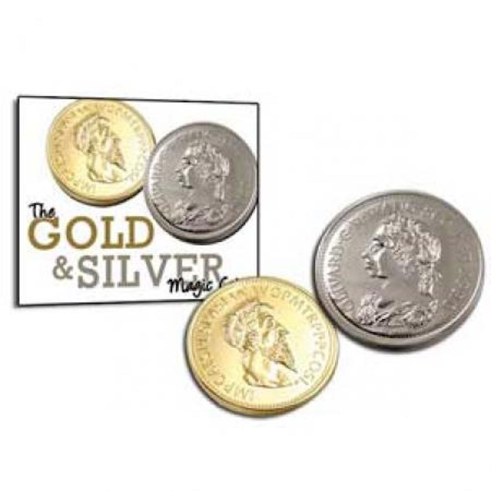 Magic Makers Gold & Silver Magic Coin Illusion The Ultimate Trick for Any Skill Level Magician