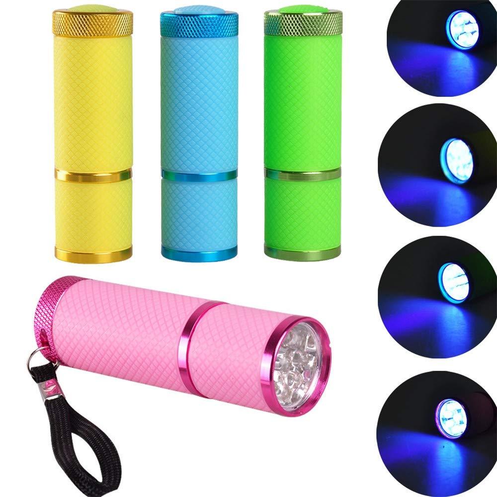 la randonn/ée Led Lampe de poche lumi/ère noire 9/Ultra Violet Blacklight lampe torche 3/AAA pour lext/érieur randonn/ée Camping Cyclisme Pour la chasse noir p/êche barbecue et EDC