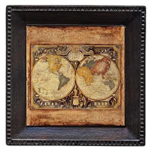Thirstystone Ambiance Coaster Set, Old Map, Multicolored