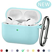 BRG Airpods Pro Case Cover, [2019 Released] Soft Silicone Skin Cover Shock-Absorbing Protective Case with Keychain for Airpods Pro [Front LED Visible]