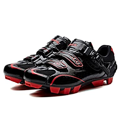 2ad0d7f4dfe Santic Mens Cycling Shoes Self Locking Mountain Bike Shoes PU Athletic  Riding Bicycle Shoes for Shimano
