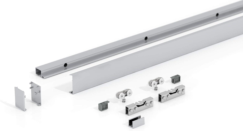 in sehr hochwertiger Qualit/ät Glasschiebet/ür 102,5x205 cm in ESG senkrecht gestreift Levidor-Sysem Basic Komplettsystem I Laufschiene und Muschelgriffen Schiebet/ür aus Glas f/ür Innenbereich