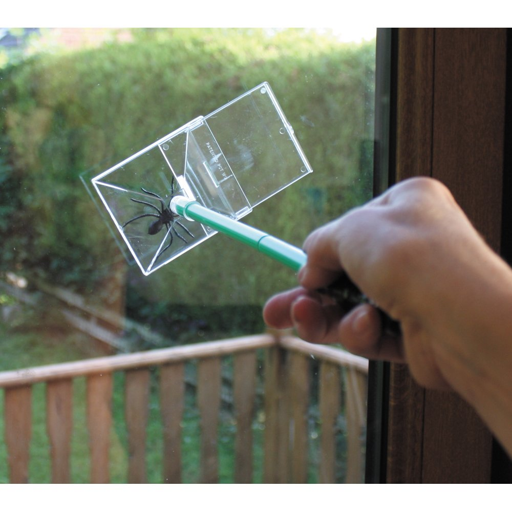 Katcha False Widow Catcher - 3 Piece Handle - Trap and catch False Widow spiders at arms length! - UK's Number 1 Spider Catcher Trap Katcha®