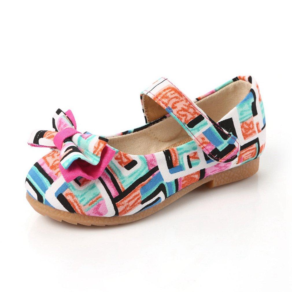 CYBLING Girls Mary Jane Flats Printed Princess Ballerina Ballet Dress Shoes Toddler//Little Kid