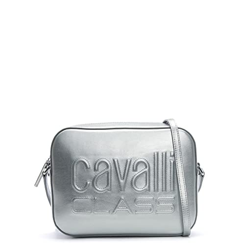 CAVALLI CLASS Nancy Donna Borse a spalla Argento (Silver) 6.5x12.5x16.5 cm  (B x H x T)  Amazon.it  Scarpe e borse b0cd8719b74