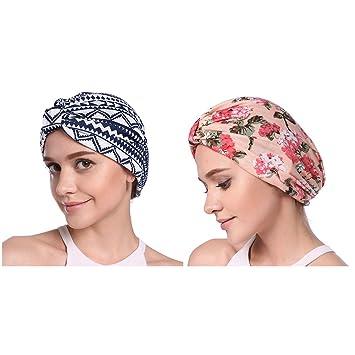 PROKTH Turbante Mujer Verano Chemo Tocado Bandana Pañuelo India Turbante de  Sombreros Flores Sombrero para Cáncer Pérdida de Pelo 1e2a43899a39