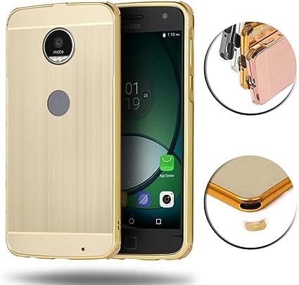 Motorola Moto Z Play Funda, AVIDET Metallic Aluminum + PC de Nuevo Caso Funda Carcasa para Motorola Moto Z Play (Dorado): Amazon.es: Electrónica