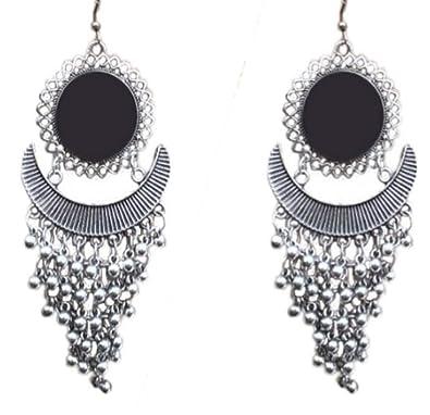 a5ab14b5c Jewellery Hub's Fashion Stylish Oxidised Afghani Tribal Fancy Party Wear  Mirror oxidised Earrings for Girls and