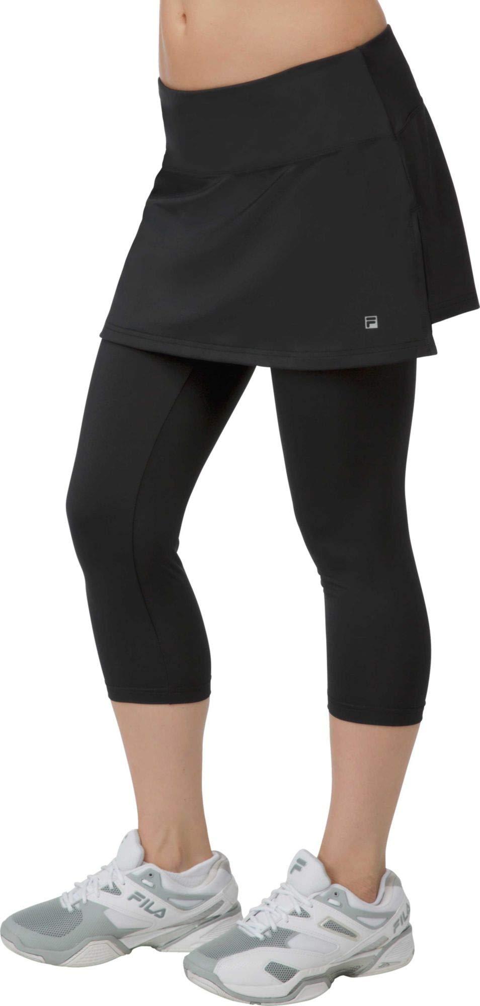 Fila Women's Skort Waistband Capri Pants XL, Black