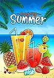 Morigins Summer Fun 12.5 x 18 Inch Decorative Fruit Juice Beach Party Garden Flag