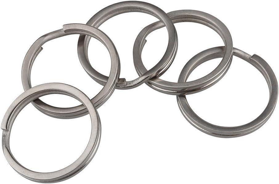 RockBros Titanium Ti Key Chain Key Ring Split Ring Size L 5pcs