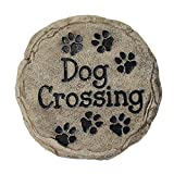 garden stepping stones Spoontiques Dog Crossing Stepping Stone