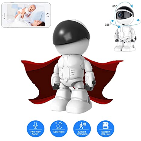 Amazon.com: ZYG.GG HD Robot IP Camera Wireless WiFi Household Security Camera, with Two-Way Audio, Motion Detection Automatic Tracking, HD Night Vision, ...